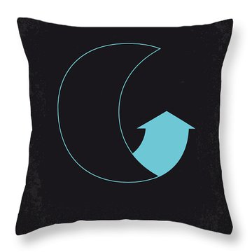 No053 My Moon 2009 Minimal Movie Poster Throw Pillow