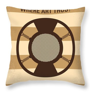 No055 My O Brother Where Art Thou Minimal Movie Poster Throw Pillow by Chungkong Art