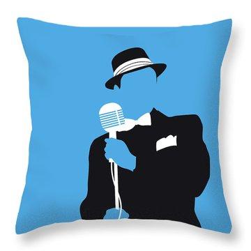 No059 My Sinatra Minimal Music Poster Throw Pillow