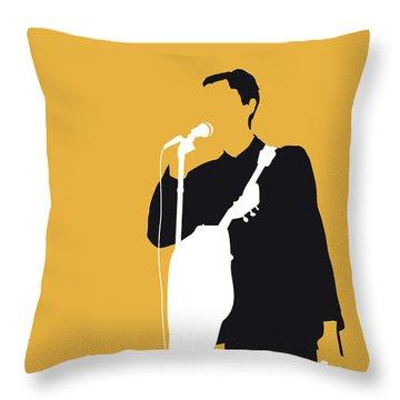 No064 My Talking Heads Minimal Music Poster Throw Pillow