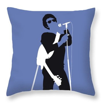 No068 My Lou Reed Minimal Music Poster Throw Pillow