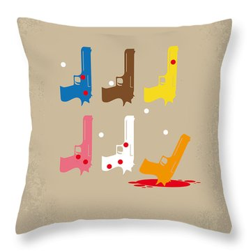 No069 My Reservoir Dogs Minimal Movie Poster Throw Pillow