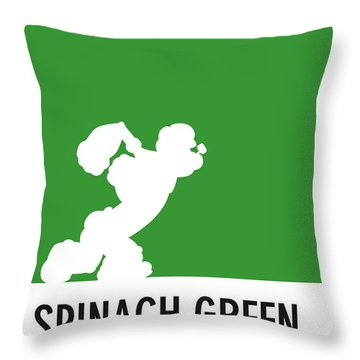 No07 My Minimal Color Code Poster Popeye Throw Pillow