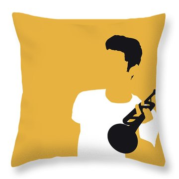 No084 My Chet Baker Minimal Music Poster Throw Pillow