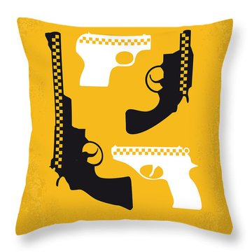 No087 My Taxi Driver Minimal Movie Poster Throw Pillow by Chungkong Art