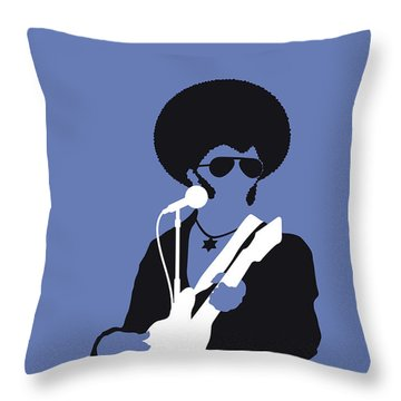 No088 My Sly And The Family Stone Minimal Music Poster Throw Pillow
