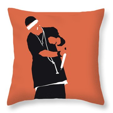 No093 My Nelly Minimal Music Poster Throw Pillow