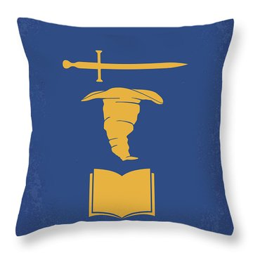 No101-2 My Hp - Chamber Of Secrets Minimal Movie Poster Throw Pillow