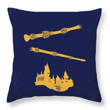 No101-8 My Hp - Deathly Hallows II Minimal Movie Poster Throw Pillow
