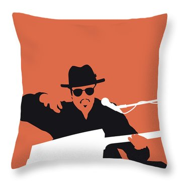 No103 My Bo Diddley Minimal Music Poster Throw Pillow