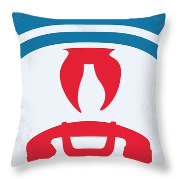 No104 My Ghostbusters Minimal Movie Poster Throw Pillow