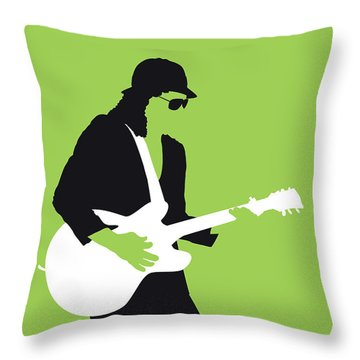 No106 My Johnny Guitar Watson Minimal Music Poster Throw Pillow