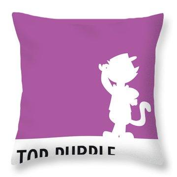No11 My Minimal Color Code Poster Top Cat Throw Pillow