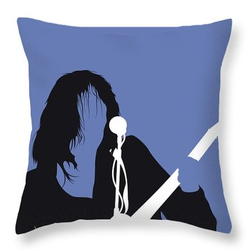 No128 My Neil Young Minimal Music Poster Throw Pillow