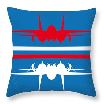 No128 My Top Gun Minimal Movie Poster Throw Pillow