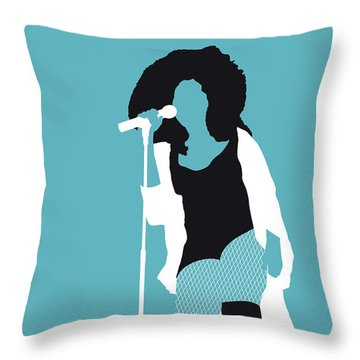 No155 My Chaka Khan Minimal Music Poster Throw Pillow
