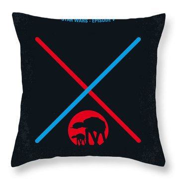 No155 My Star Wars Episode V The Empire Strikes Back Minimal Movie Poster Throw Pillow
