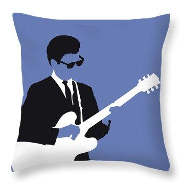No158 My Roy Orbison Minimal Music Poster Throw Pillow