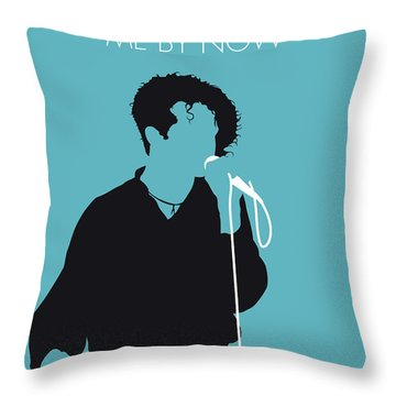 No165 My Simply Red Minimal Music Poster Throw Pillow