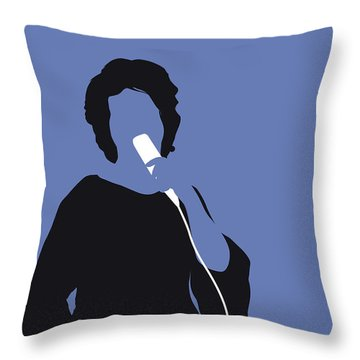 No188 My Aretha Franklin Minimal Music Poster Throw Pillow
