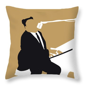 No190 My Fats Domino Minimal Music Poster Throw Pillow