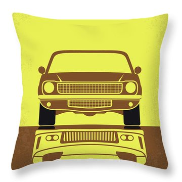 No207-3 My Tokyo Drift Minimal Movie Poster Throw Pillow