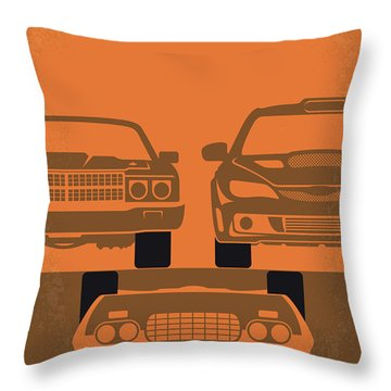 No207-4 My Fast And Furious Minimal Movie Poster Throw Pillow
