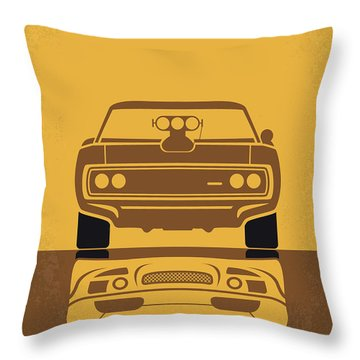 No207 My The Fast And The Furious Minimal Movie Poster Throw Pillow