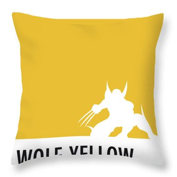 No21 My Minimal Color Code Poster Wolverine Throw Pillow