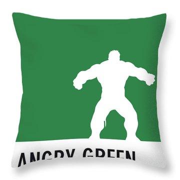 No22 My Minimal Color Code Poster Hulk Throw Pillow
