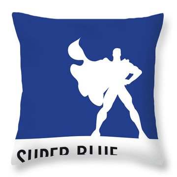No23 My Minimal Color Code Poster Superman Throw Pillow