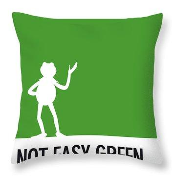 No25 My Minimal Color Code Poster Kermit  Throw Pillow