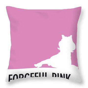 No26 My Minimal Color Code Poster Piggy  Throw Pillow