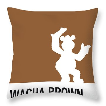 No28 My Minimal Color Code Poster Fozzy  Throw Pillow