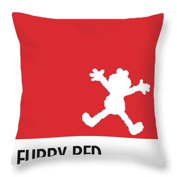 No30 My Minimal Color Code Poster Elmo Throw Pillow