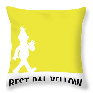 No31 My Minimal Color Code Poster Bert Throw Pillow