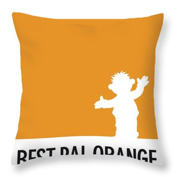 No32 My Minimal Color Code Poster Ernie Throw Pillow