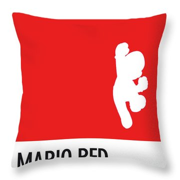 No33 My Minimal Color Code Poster Mario Throw Pillow