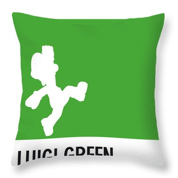No34 My Minimal Color Code Poster Luigi Throw Pillow