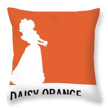 No35 My Minimal Color Code Poster Princess Daisy Throw Pillow