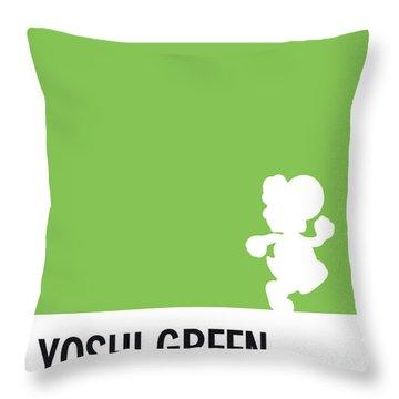 No36 My Minimal Color Code Poster Yoshi Throw Pillow