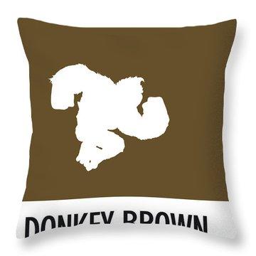 No37 My Minimal Color Code Poster Donkey Kong Throw Pillow
