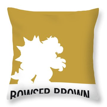 No38 My Minimal Color Code Poster Bowser Throw Pillow