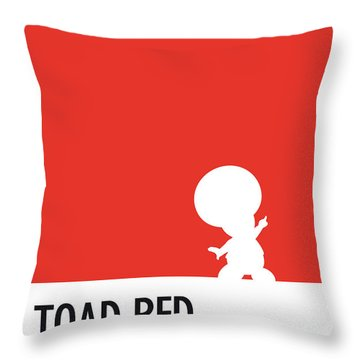 No41 My Minimal Color Code Poster Toad Throw Pillow