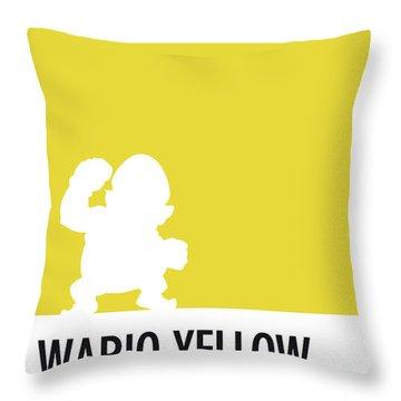 No43 My Minimal Color Code Poster Wario Throw Pillow