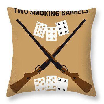No441 My Lock Stock And Two Smoking Barrels Minimal Movie Poster Throw Pillow