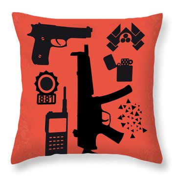 No453 My Die Hard Minimal Movie Poster Throw Pillow by Chungkong Art