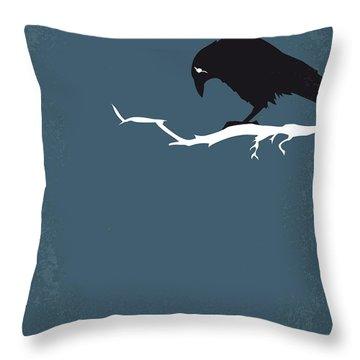 No488 My The Crow Minimal Movie Poster Throw Pillow