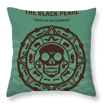 No494-1 My Pirates Of The Caribbean I Minimal Movie Poster Throw Pillow