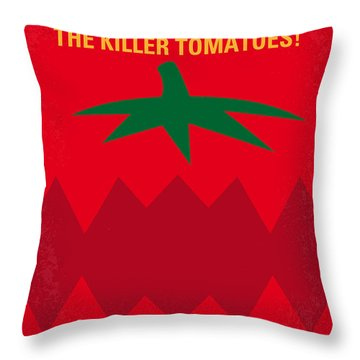 No499 My Attack Of The Killer Tomatoes Minimal Movie Poster Throw Pillow